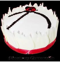 Strawberry Cheesecake Dome by Bake & Churn