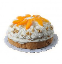 Peach Walnut Torte by Contis