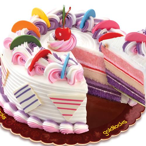 Rainbow Cake By Goldilocks