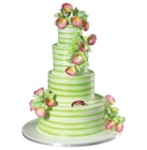 Leaf & Orchid Frill Cake by Red Ribbon