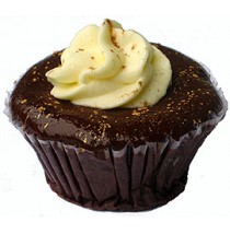 Black Gold Truffle Cupcakes by Cookie Blossoms