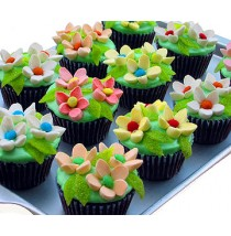 Blooming Garden Cupcakes by Cookie Blossoms