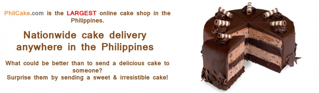 Is the largest online cake shop in the Philippines!