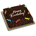Chocolate Dedication Cake by Red Ribbon