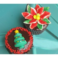 Christmas Cupcakes by Cookie Blossoms