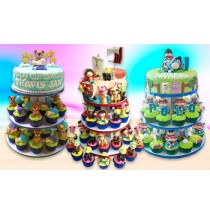 3-Tier Cupcake Tower 30 3D Cupcakes by Decobake