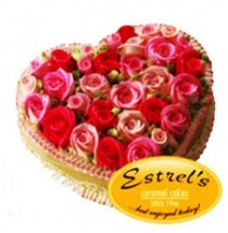 Butter Heart Cake by Estrel's