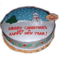 Frosty The Snowman Christmas Cake by Kings Bakeshop