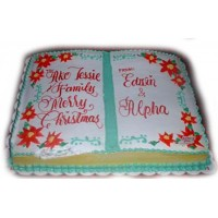 Holiday Story Christmas Cake by Kings Bakeshop