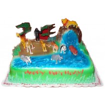 Jungle Theme Cake by Kings Bakeshop