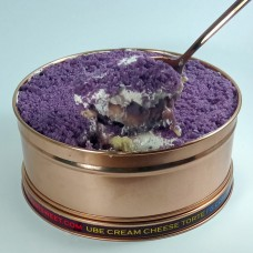 Ube cream cheese torte