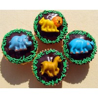 Safari Cupcakes by Cookie Blossoms