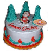 Sensational Santa Christmas Cake by Kings Bakeshop