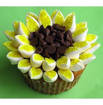 Citrusy Sunflower Cupcakes by Cookie Blossoms