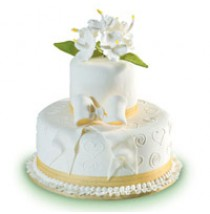 White Gumamela Cake by Red Ribbon